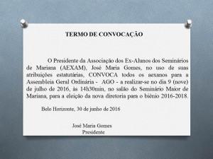 TERMO DE CONVOCAÇÃO AGO 2
